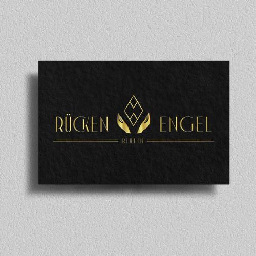 Art Deco style logo for Rücken Engel
