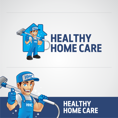 Healthy Home Care Logo Mascot