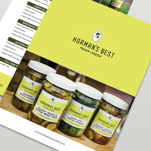Sales sheet design for Horman's Pickle