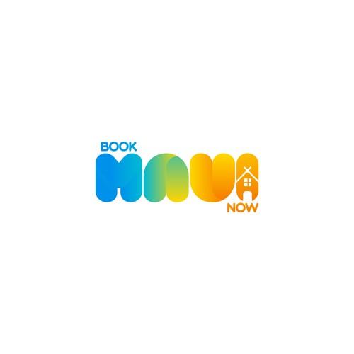 """Logo for """"book MAUI now"""""""