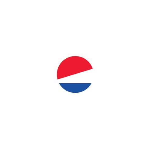 Pepsi logo in Bauhaus style