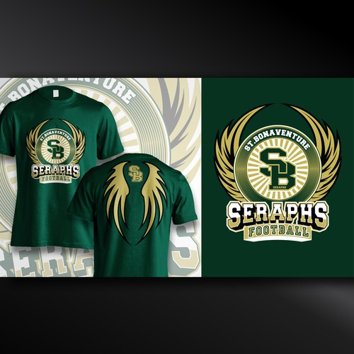 St. Bonaventure High School Football T-shirt design