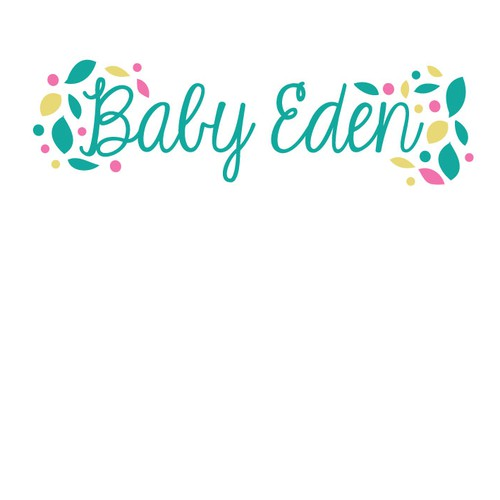 Playful design for a company selling baby items