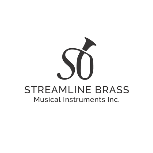 Create a beautiful elegant logo for a musical instrument builder