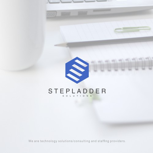 logo concept for stepladder solutions