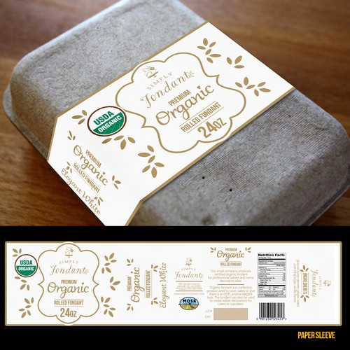 Winning label design for Simply Fondant