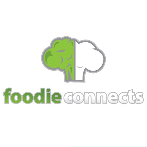 Create the next logo and business card for foodieconnects