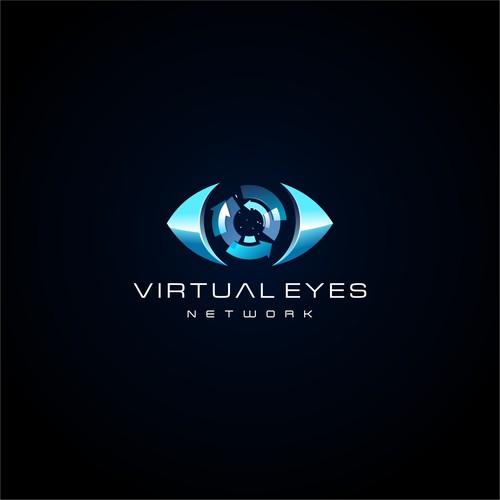 VR company 3d logo