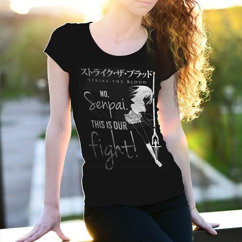 Strike the Blood anime manga light novel inspired T-Shirt