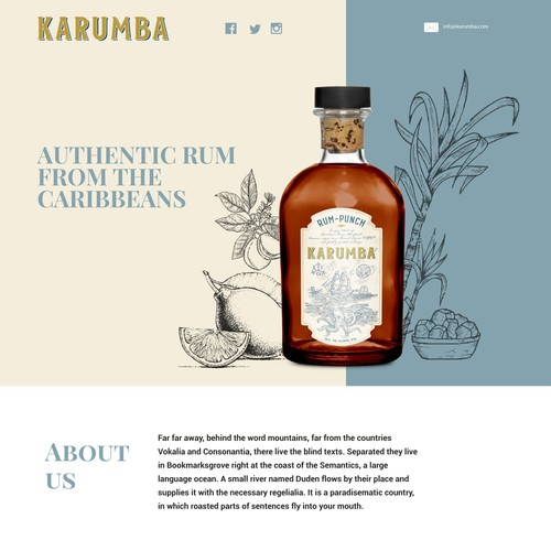 Landing Page Design for Luxury Gin