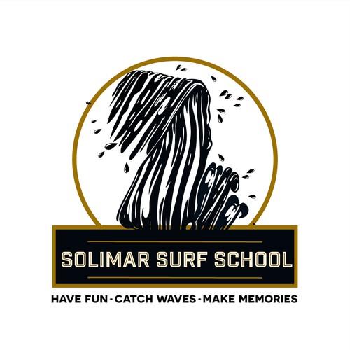 Versitile logo for a surf school