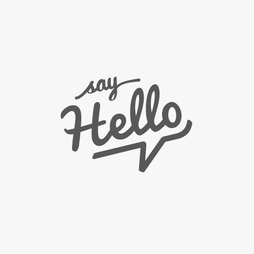 Say Hello bubble log design