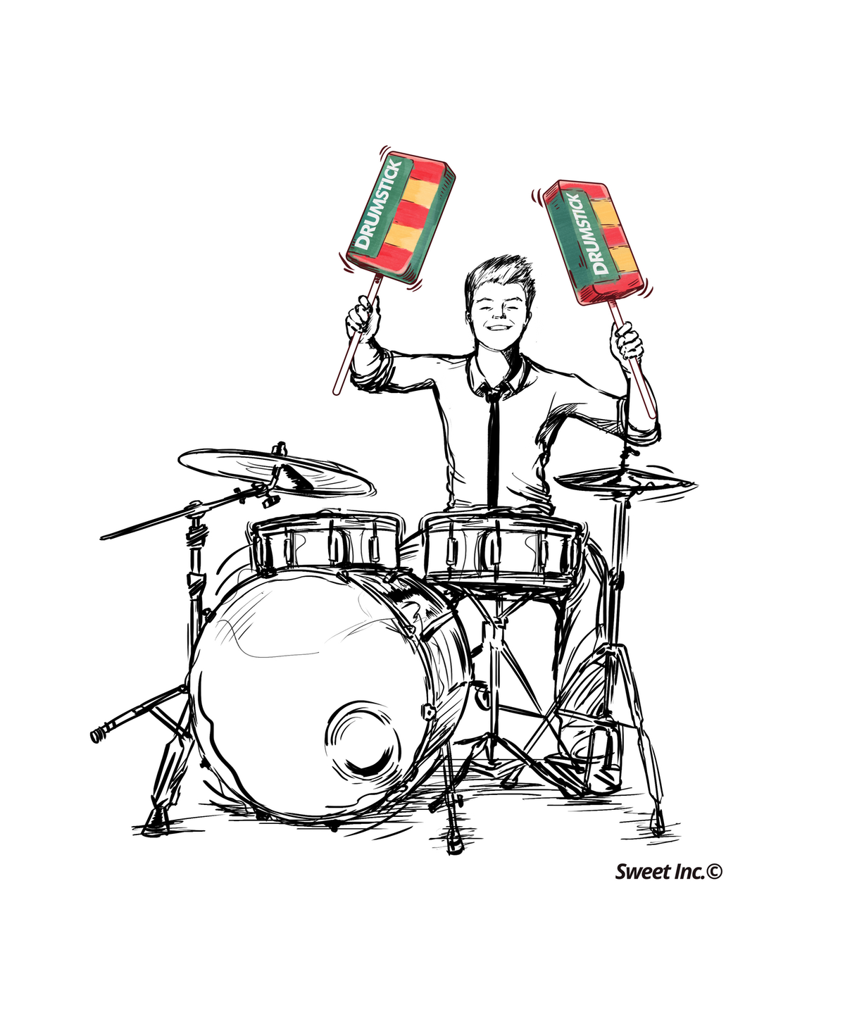 Drum kit with a twist