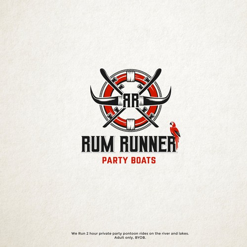 Rum Runner Party Boats Logo design