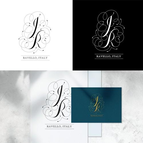 Wedding initials logo