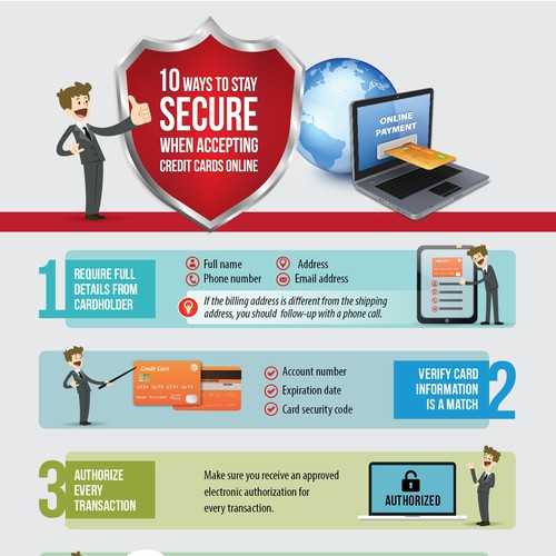 Infographic: 10 Ways to Stay SECURE when Accepting Credit Cards Online