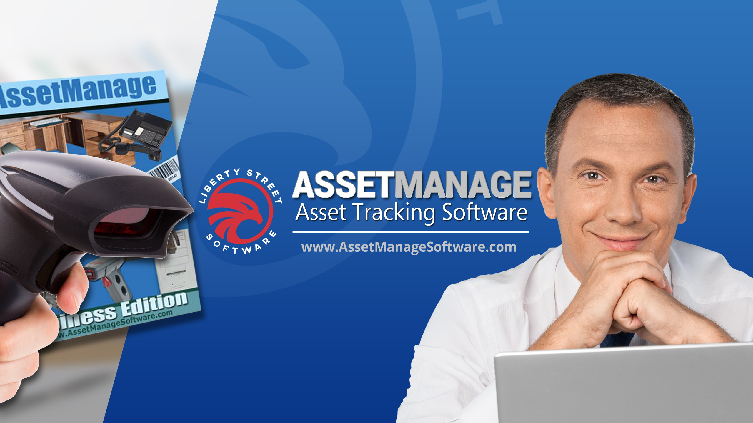 YouTube Channel Cover Design - Asset Tracking Software