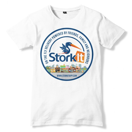 """Can you """"deliver"""" the best t-shirt design for StorkIt?!?"""