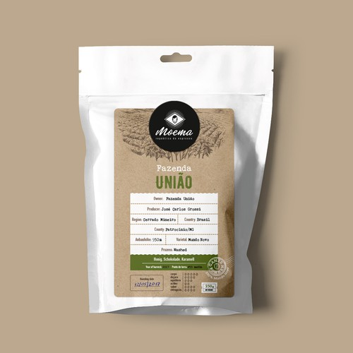 Packaging for Moema Specialty Coffees