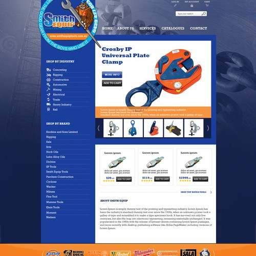 Create the next website design for Smith Equip