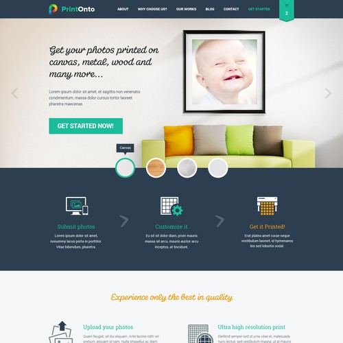 Web Design for PrintOnto