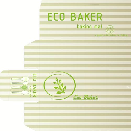 Vibrant box design for baking mat