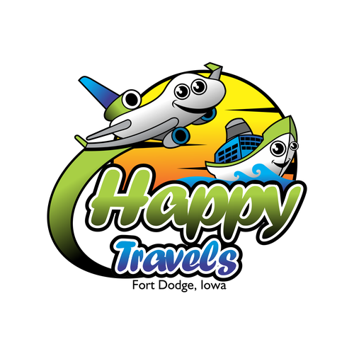 "Logo concept for "" Happy Travels"""