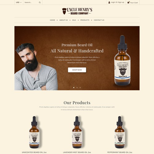 Beard Company Shopify Website Design & Development