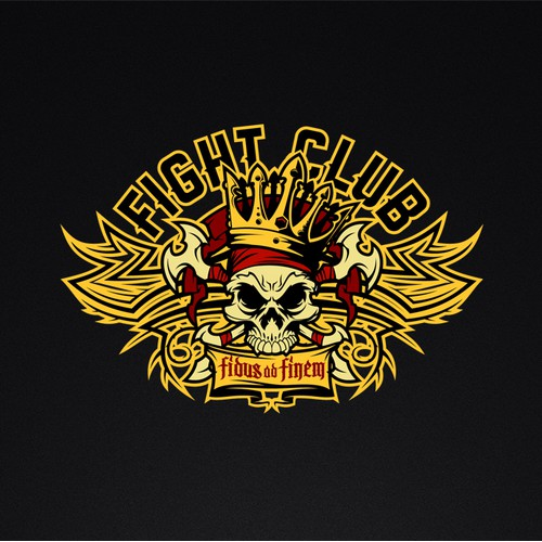 Skull with crown logo