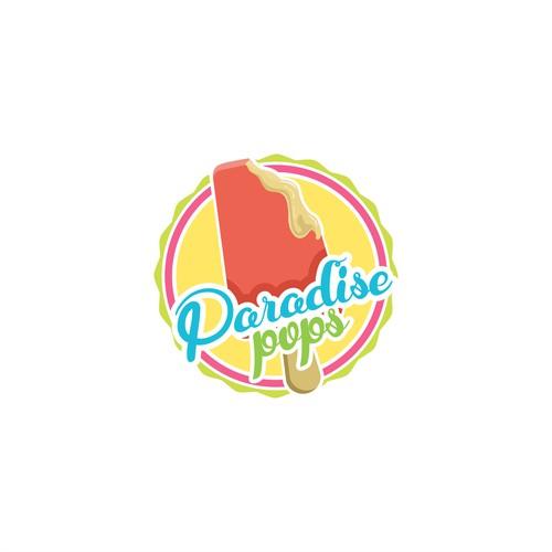 logo for paradise pops