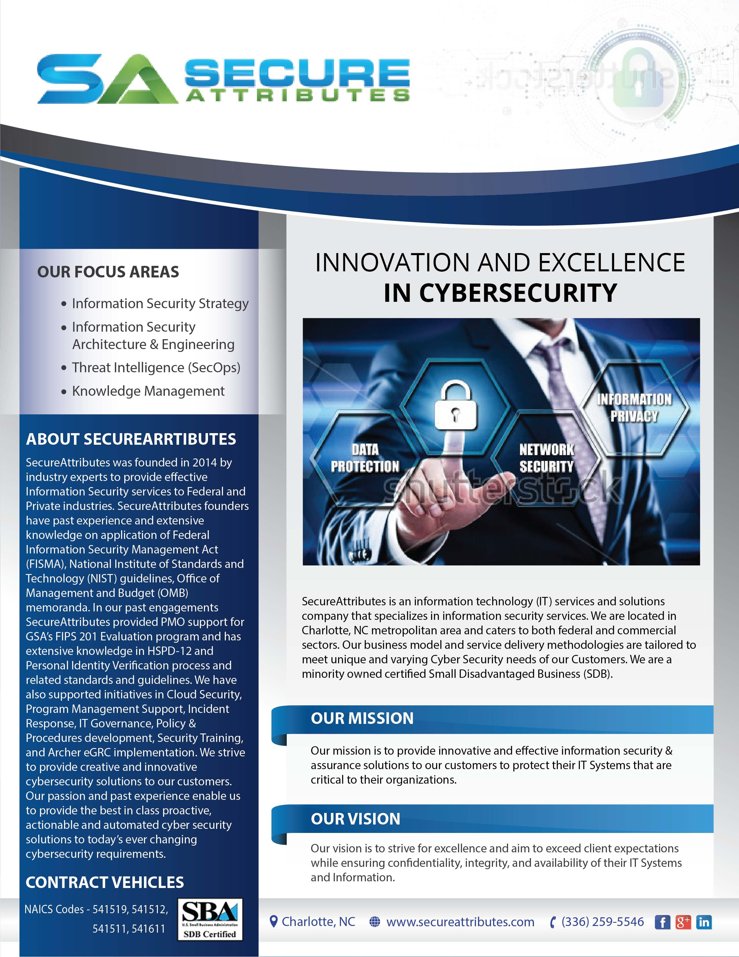 Cyber Security Capability Statement (Flyer)