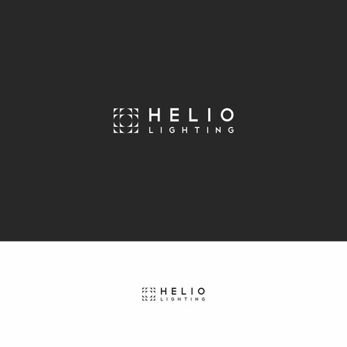 Helio Lighting logo design