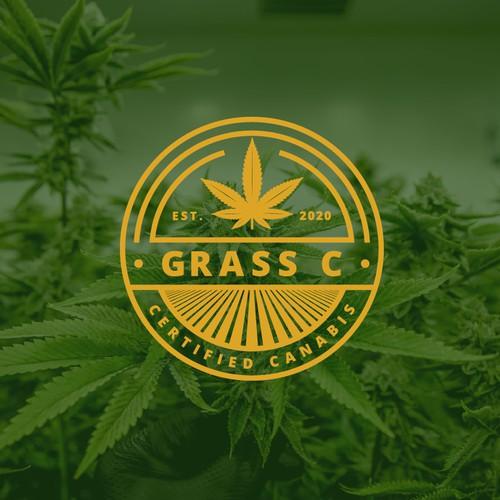 Badge logo for cannabis farm