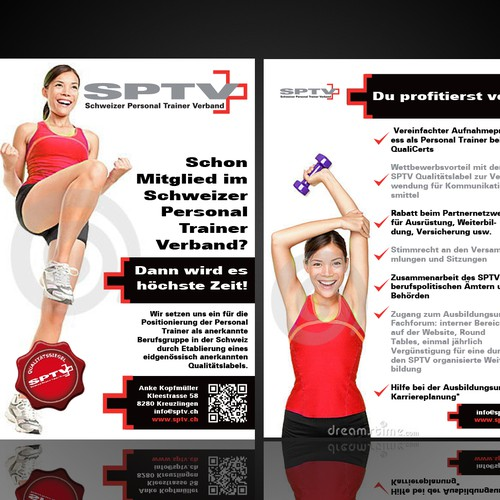 Flyer for the Swiss Personal Trainer Association