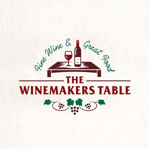 Logo for a private dining, wine lounge, catering for wine lovers, foodies and the person who wants exclusivity