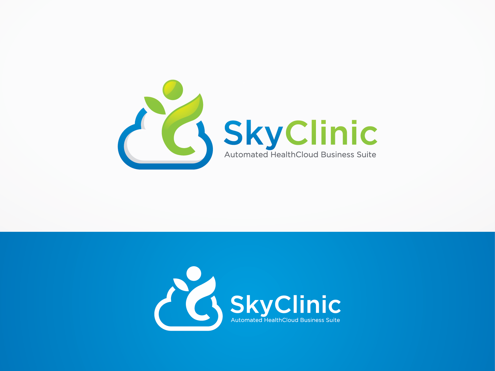 Create a Logo for an entry point into our cloud app: SkyClinic -Automated HealthCloud Business Suite