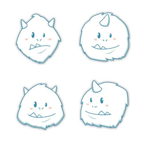 Yeti Faces Mascot Design