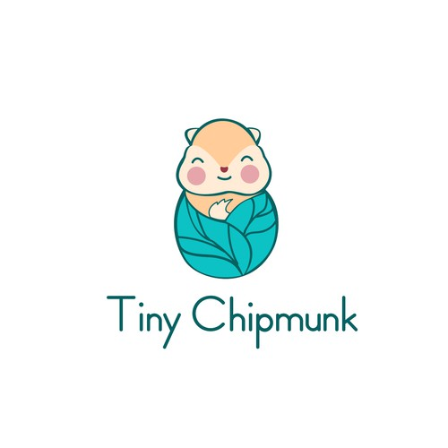Create an appealing, eye-catching logo for Tiny Chipmunk