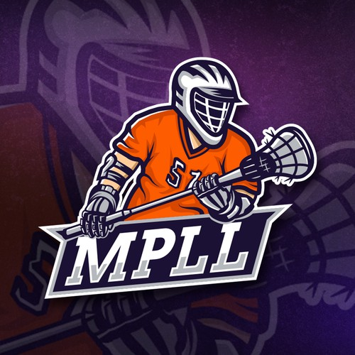 This logo was designed for a lacrosse league. I wanted to look like an eSports logo .