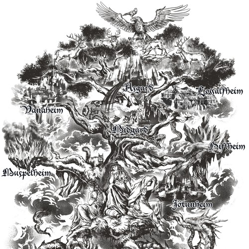 Yggdrasil and nine Worlds