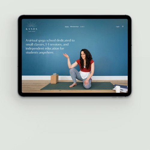 Art-direction and website for a virtual yoga school with Member Areas integrated. San Francisco, California