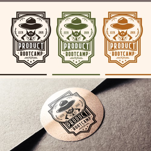 The design of the logo is made in the style of a beer label.