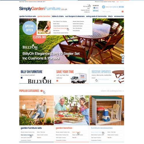 SimplyGardenFurniture - English Ecommerce Store