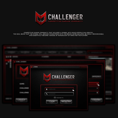 Challenger - PC Application & Web Graphics
