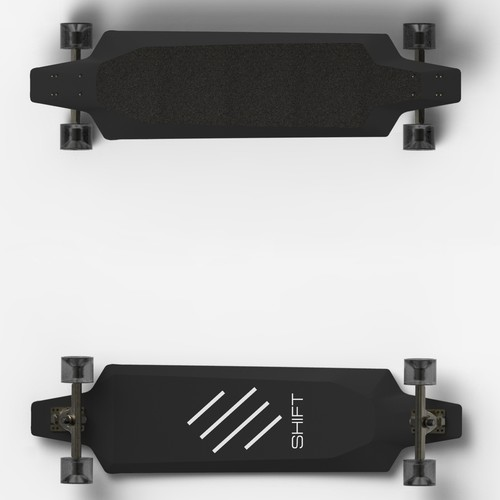 Concept for the world's lightest electric skateboard.