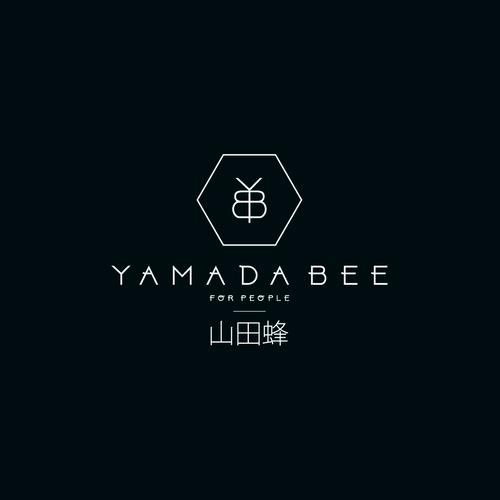 logo concept for luxury honey farm