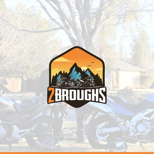 2Broughs Adventure Motorcycle Logo