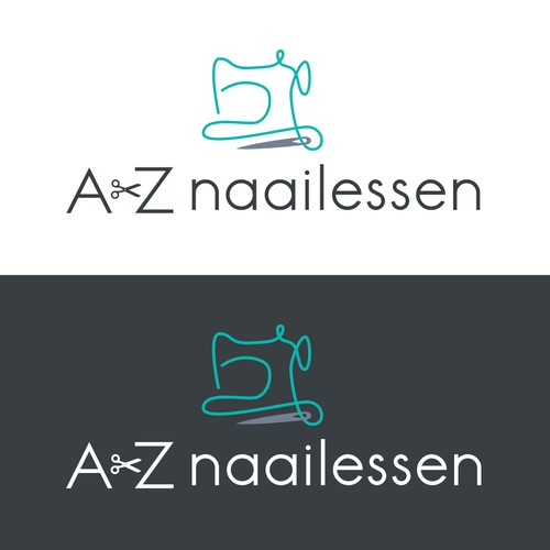 Logo concept for sewing school