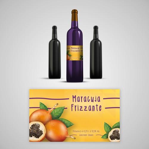 Etikett spritziger Perlwein