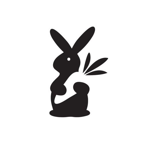 Rabbit loves carrot logo design